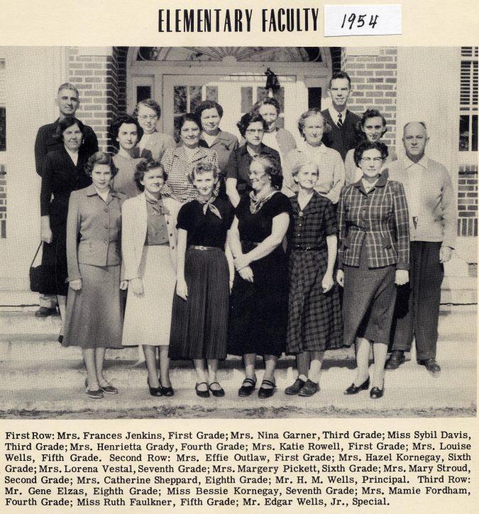 Elementary Teachers in 1954 A
